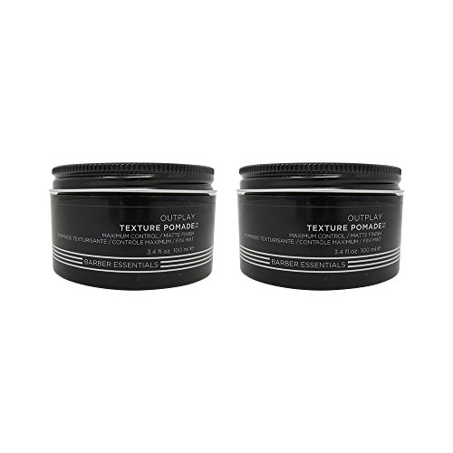 Redken Brews Outplay Maximum Control Texture Pomade 3.4 oz. Pack of 2 (Putty Top)