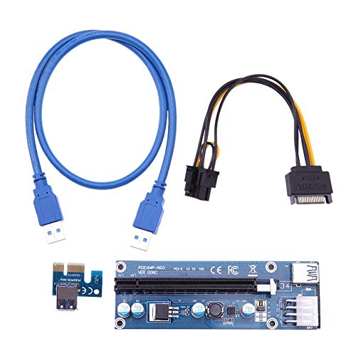 Blue-Ocean-11-60cm USB Cable PCI-e PCI Express 1x to 16x Extender Riser Card video card Graphics Extension Cable Cord for Bit Mining miner from Blue-Ocean-11