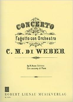 Book WEBER - Concierto Op.75 en Fa Mayor para Fagot y Piano