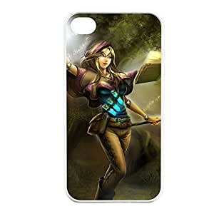 Lux-005 League of Legends LoL case cover for Apple iPhone 4 / 4S - Rubber White