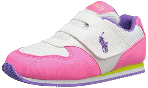 Polo Ralph Lauren Kids Propel P/WH N W/WH Fashion Sneaker (Toddler), Pink/White, 9.5 M US Toddler