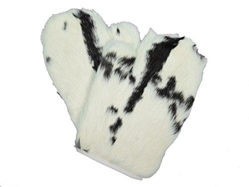 (Rabbit Fur Massage Mitts (Spotted))