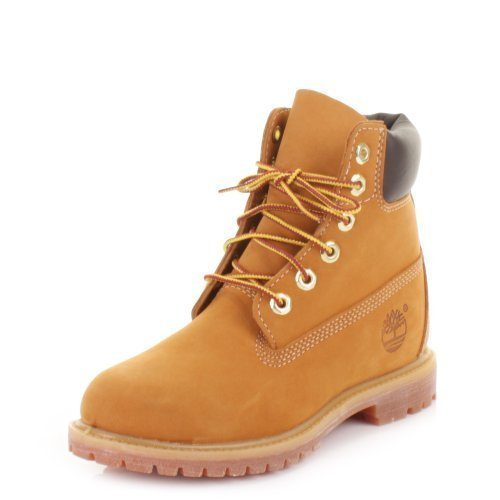 Womens Timberland 6 Inch Premium Wheat Ankle Boots SIZE 4