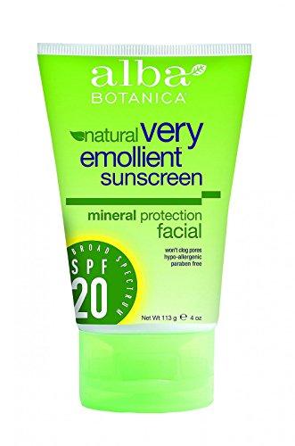 Alba Botanica Natural Sunblock - Very Emollient - Mineral SPF 20 - Facial - 4 (Alba Botanica Spf 20 Sunscreen)