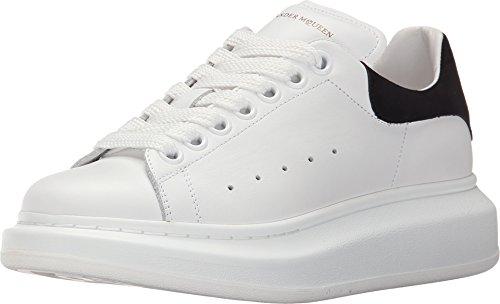 Alexander McQueen Sneaker Pelle S.Gomma, White/Black, 40 (US Women's 10) B-Medium
