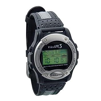 Amazon Com Vibralite 3 Vibration Watch With Leather Band Black