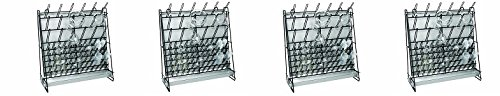 Heathrow Scientific HS23243A Glassware Drying Rack, Vinyl-Coated Steel Wire Construction, Self-Standing or Wall-Mountable, 462 x 182 x 525mm (L x W x H) (4-(Pack))