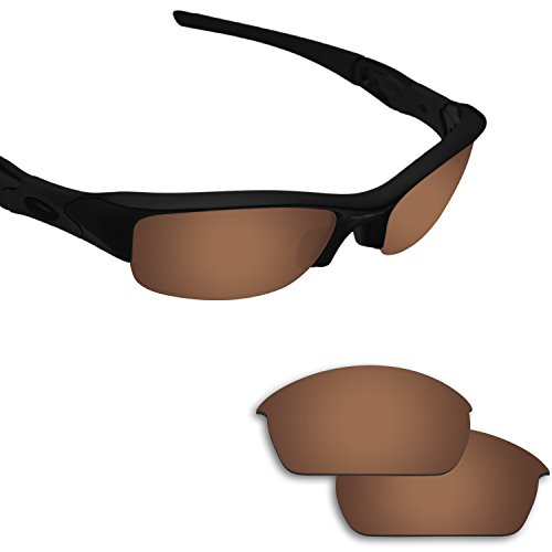 Fiskr Anti-saltwater Replacement Lenses for Oakley Flak Jacket Sunglasses - Various Colors (Bronze Brown - Anti4s Polarized)