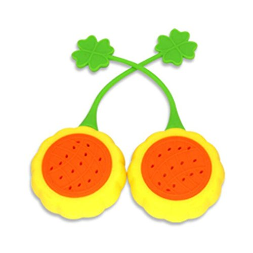 Funnytoday365 1Pcs Creative Sunflower Silicone Tea Infuser Kitchen Gadgets by FunnyToday365 (Image #1)