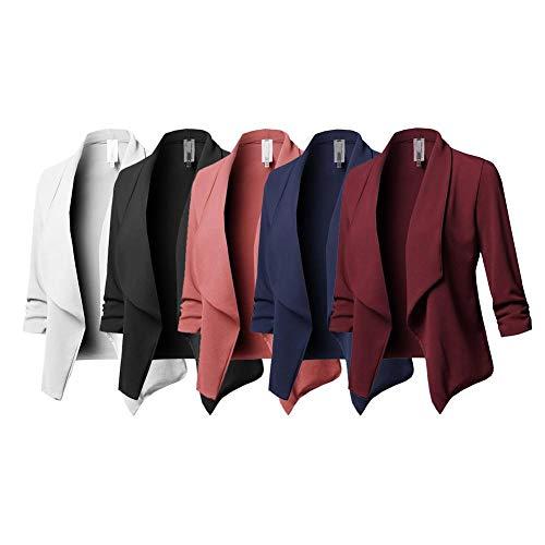Manches Femmes S pour Unie Costume Manteau Slim lgante avec Petit tubit Blazer Couleur Longues IBwOqBZFx