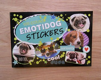 [ID Emojis/ Emoti Dog Stickers Pad - 100 Stickers] (World Country Themed Costumes)