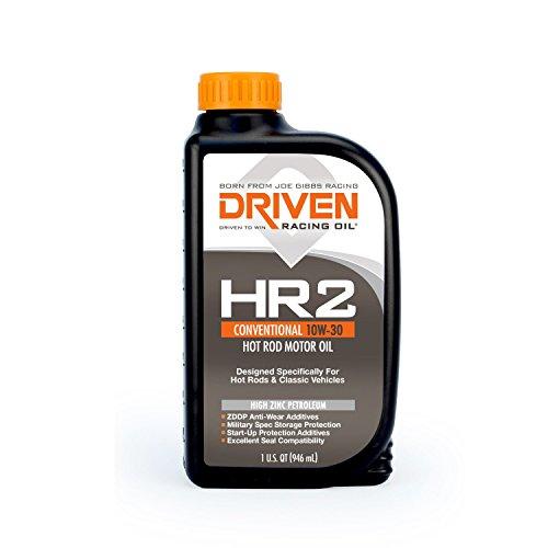 Lunati DRV02007 10W-30 Driven HR-2 High Zinc Hot Rod Oil for Flat Tappet Camshaft, 1 Quart, 12 Pack