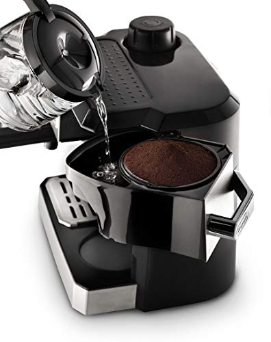 """DELONGHI BCO330T and and Espresso Machine, 24"""" x 14"""" x 14"""", Black/Stainless Steel"""