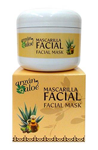Argan-Aloe 70070 - Mascarilla facial con aloe y argán, 100 ml Cosmonatura