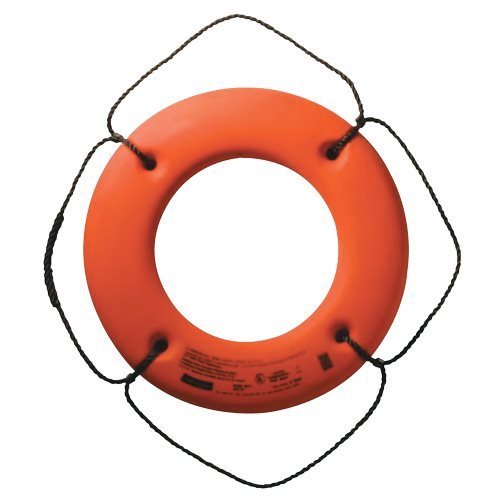 Jim-Buoy HS-20 O U.S.C.G. Approved Hard Shell Series Life Ring - 20'', Orange by Jim-Buoy