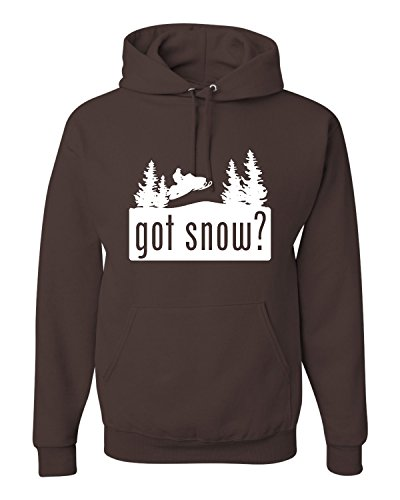 X-Large Chocolate Adult Got Snow Funny Snowmobile Lover Sweatshirt Hoodie (Got Chocolate compare prices)