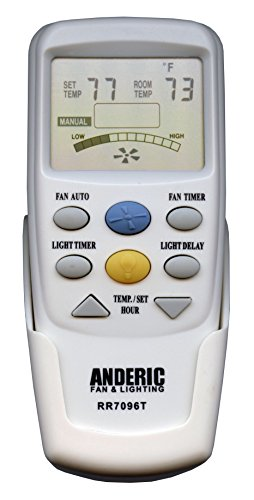Anderic Replacement for Hampton Bay CHQ7096T with''Fan Timer'' key Thermostatic Remote Control for Hampton Bay Ceiling Fans (FCC ID: CHQ7096T, UC7096T, CHQ8BF7096T, CHQ8BT7096T) - RR7096T by Anderic