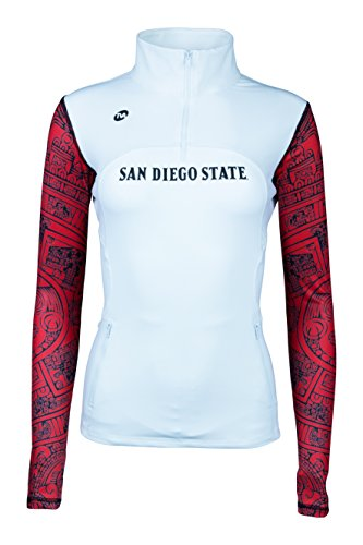 State Track Jacket - San Diego State SDSU Aztecs Yoga Track Jacket Aztec Calendar White (Small)