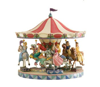- Disney Jim Shore Traditions - Carousel and All 5 Princesses Figurines