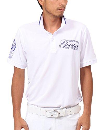 [ガッチャ ゴルフ] GOTCHA GOLF ポロシャツ 吸水速乾 ネオン使い ポロシャツ 182GG1216 ホワイト XSサイズ