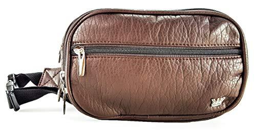 Purse King Explorer Fashion Waist Pack (Dark Brown) (Belted Hobo Handbag)