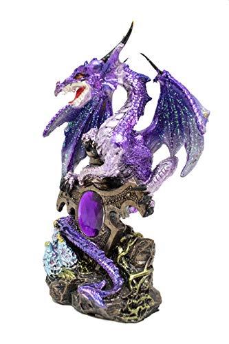 (GSC Fierce Purple Dragon Guarding a Precious Treasure 6 Inches High 71351)