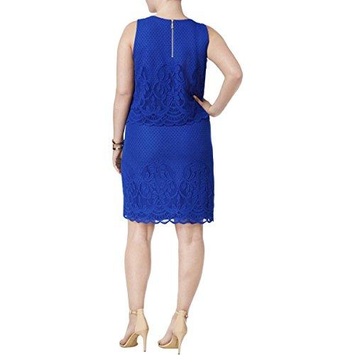 Fit Womens Work Plus Dress amp; Club Charter 3X Blue Layered Flare Wear to wtRZ5zq