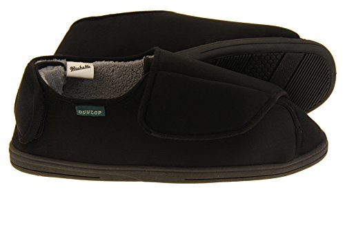 Pantofole Allineato Velcro Dunlop Nero Uomo Fur qw0PExYA