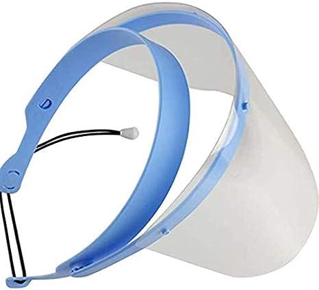 PROBEEALLYU Máscara de protección facial Prevención de salpicaduras antiniebla con 10 películas protectoras de plástico reemplazables, dental Máscara de protección para pulverización (Máscara)