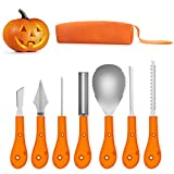 Greatever 2018 Newest Halloween Pumpkin Carving Kit,Professional and Heavy Duty Stainless Steel Tools,Pumpkin Carving Set with Carrying Case (7Pcs) Review