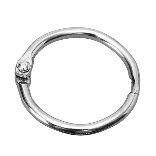 SODIAL(R) 10 Hinged Rings Metal Binder Craft Split Hinge For Scrapbooking Photo Album Card 25X20mm - Split Metal Album Rings
