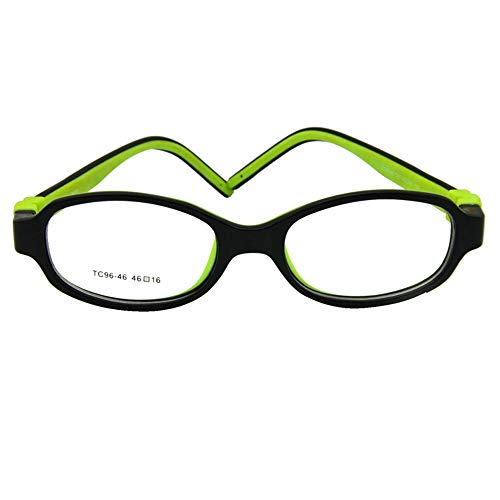 EnzoDate Kids Optical Eyeglasses Size 46/16 Bendable Children Glasses Frame Teens Glasses TR90 Safe Flexible ()