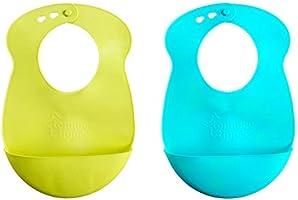 Tommee Tippee Explora Babero fácil de enrollar, azul y verde, 2 piezas