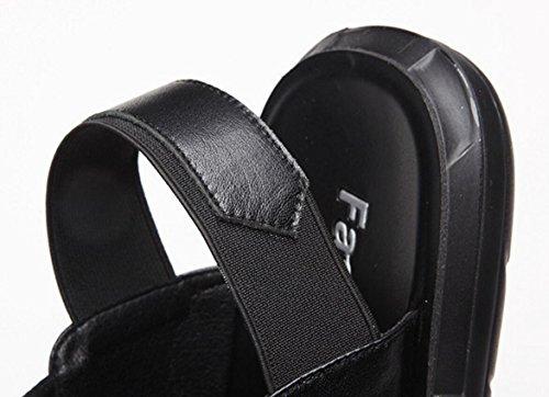 De Black De Correa La Cinturones Los Del Verano Sandalias Cuero De De Elástica Mágicos CYGG De Playa Nuevo Hombres Zapatillas dHgnxfPW