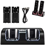 NIFERY Wii Charging Dock Station, Wii Remote Charger Stand with 2