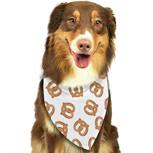 DOGPETROOM Soft Pretzels Food Fabric Pet Dog Cat Pig Puppy Bandana Triangle Head Scarf Bib Scarf Accessories