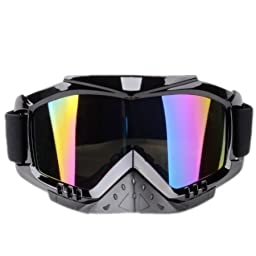 Mens Windproof UV400 Motorcycle Snowmobile Ski Goggles Eyewear Sports Protective Safety Glasses