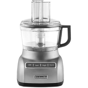 KitchenAid KFP0711CU 7 Cup Food Processor, Contour Silver