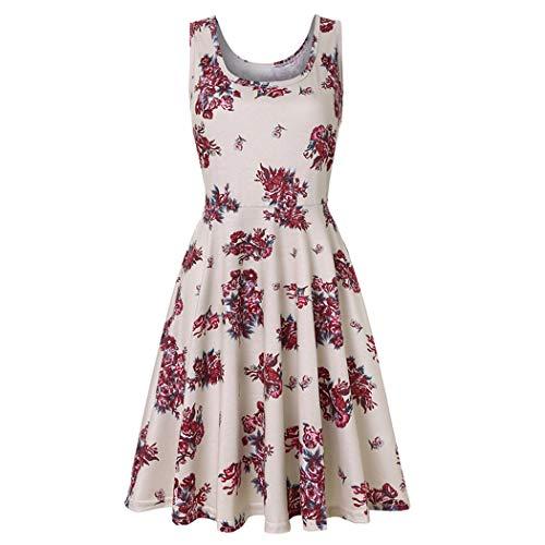 LOVESOO❤ Maxi Dresses for Womens Short Sleeve Casual Summer Floral Maxi Dress Summer Beach T Shirt Dresses White