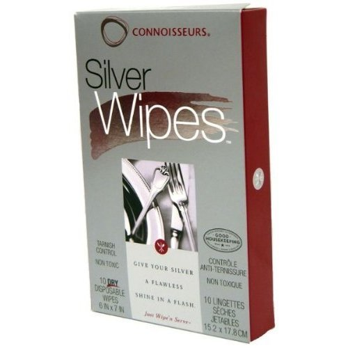 Connoisseurs Silver Wipes, 10 Count