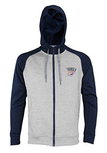 adidas NBA Men's Full Zip Tech Fleece Climawarm Jacket, Oklahoma City Thunder