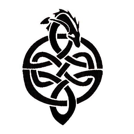 Celtic Knot Dragon Stencil Mylar Dragons Wall Painting Gothic Stencils FWS