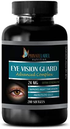 Vitamins for Vision - Eye Vision Guard 24 MG - Advanced Complex - Lutein with zeaxanthin 20 mg - 1 Bottle 200 Softgels