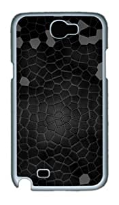 Dark Leather Background Custom Samsung Galaxy Note 2/ Note II / N7100 Case Cover ¿C Polycarbonate ¿C White