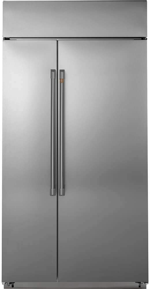 Ge Cafe CSB48WP2NS1 48 Inch Built In Counter Depth Side by Side Refrigerator in Stainless Steel