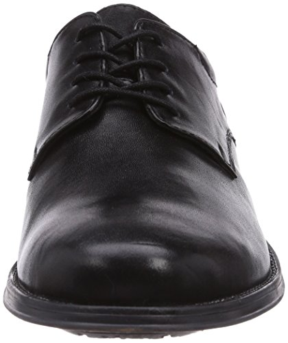 Marc Shoes 1.016.01-01/100-Ramon - zapatos con cordones de cuero hombre negro - Schwarz (black 100)