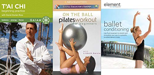 (Ballet, Pilates and T'ai Chi Triple Pack Bundle - Beginning Practice with David-Doran Ross, On the Ball Pilates for Beginners and Ballet Conditioning 3-DVD Set )