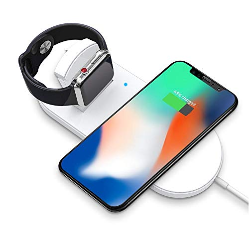 SWINCHO Wireless Charger, Wireless Charging Pad, Charging Station, Universally Compatible with Qi Enabled Smart Phones and Select iWatch Series 3/2/1
