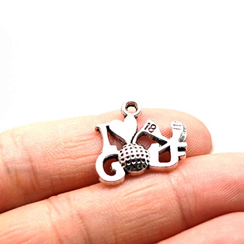 MT 2007 Alloy Charms, Silver Tone Handmade Supply Charms, Handmade Craft, Handmade Jewelry Supply (Golf Tools 50PCS JHS34) ()