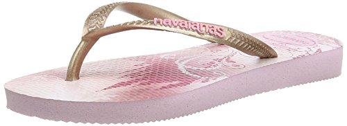 Gemusterte Havaianas Zehentrenner Mädchen/ Junge Slim Princess Mehrfarbig 6511